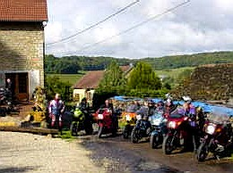 motorijden vanuit motorherberg La Tourelle frankrijk