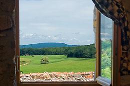 uitzicht familiekamer b&b colombotte frankrijk